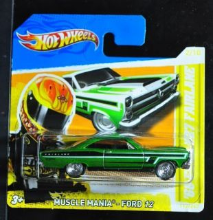 YELLOW TEAM HOT WHEELS 2012 SUPER TREASURE HUNT 66 FORD FAIRLANE SHORT