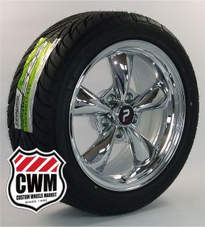 Chrome Wheels Rims Federal Tires for Chevy El Camino 66 81
