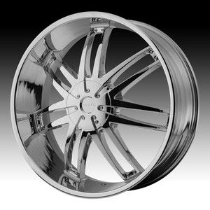 20 inch Helo Chrome Wheels Rims 5x5 5x127 Jeep Grand Cherokee 2012