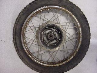 1968 68 Yamaha YA6 125cc Y21 210820 Rear Wheel Tire Rim