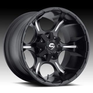Fuel Dune 6x135 6x5 5 ET20 Matte Black Milled Wheels 4 New Rims