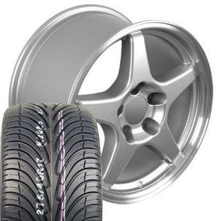 17x9 5 Corvette ZR1 Wheels Rims Tires Silver Fit Camaro