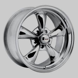 Polished Wheel 17 5x4 75 Stagered Wheels Chevy Musclecar 17x7