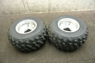 Yamaha Banshee YFZ350 YFZ 350 Rear Wheel Set Rims Tires Wheels