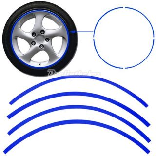 D0X8 Special Strips Blue Car Motorcycle Rim Stripe Wheel Tape Decal