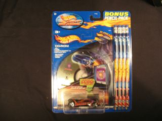 Hot Wheels 2002 Race Back To School CD Rom and 4 Pencil Pack Vulture