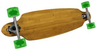 GREEN BAMBOO CRUISER DROP THRU Complete SPEED LONGBOARD 70mm Wheels