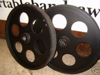 Bandsaw Wheels Bandwheels 20 with Drive Shaft Set HD