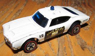 Vintage Hot Wheels Redline State Police Car Oldsmobile Cutlass 442