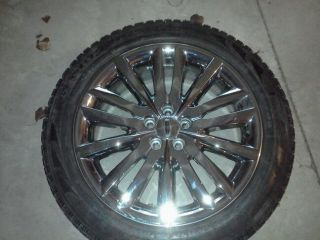 20 Chrome Clad Lincoln MKX Wheels and Tires 80 90 Tread