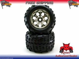 Redcat Racing 17mm Hex Chrome Wheels and Tires Fits Landslide