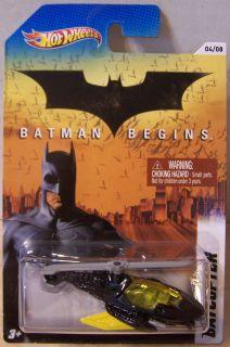 Ctd Hot Wheels 2012 Batman Series 4 8 Batman Begins Batcopter Blk YW