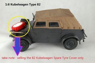 Dragon 82 Kubelwagen Spare Tyre Tire Wheels Cover German Soldier