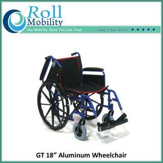 Aluminum Wheelchair 18 Seat Quick Release Wheels Free SHIP 1N