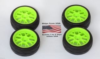 4x Wheels Tires 1 10 Team Associated Kyosho Traxxas Fiesta 1 16 Rally
