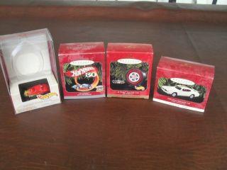 Hallmark Hot Wheels Christmas Ornament Lot 4 Car