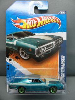 2011 HOT WHEELS 1 64 MUSCLE MANIA 1971 DODGE HEMI CHARGER 108 TEAL 5S