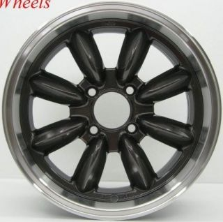 16x7 Rota RB Wheels 4x114 3 Rim 4mm Royal Black AE86