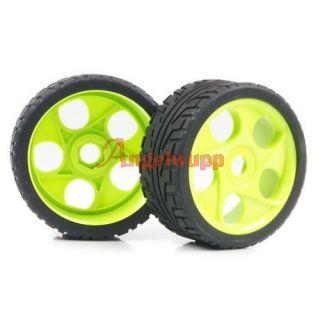 Off Road Car Buggy Plastic Wheel Rim Rubber Tires Tyre 86g 8003