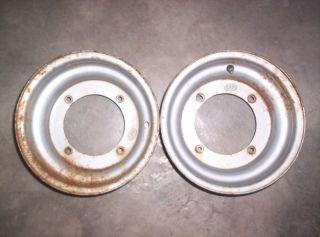 87 90 Suzuki Quadrunner 500 Quadzilla Front Rims ITP 4 166 10x5 7238