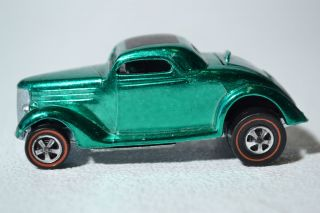 Hot Wheels Redline Classic 36 Ford Coupe 6253 in Metallic Green Mint