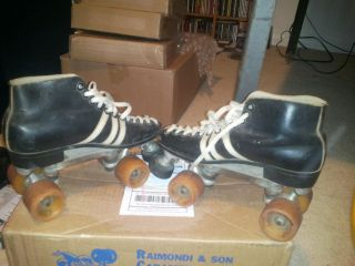 Riedell 265 speed skates ZINGER wheels and Sure grip quad size 6 mens