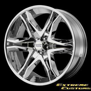 Racing AR893 Mainline Chrome 5 6 Lug Wheels Rims Free Lugs