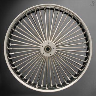 Fat Spoke 21 Front Wheel Chrome 21 x 2 15 Harley Dyna Wide Glide
