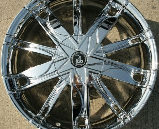 Polo Maze PL1 20 Chrome Rims Wheels Nissan Maxima 94 Up 20 x 8 5 5H