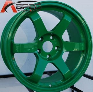 17x9 5 Rota Grid Wheels 5x114 3 Rim 12mm Absolute Green