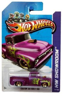2013 Hot Wheels 211 HW Showroom Custom 1956 Ford F 100