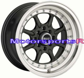 16 16x8 XXR 002 Gun Metal Rims Wheels Deep Dish Lip 87 Toyota Corolla