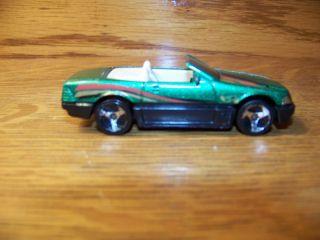 Hot Wheels 80 Die Cast Convertable Green Toy Car Racecar Vintage
