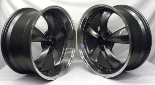 Bullitt Motorsport Wheels 20x8 5 20x10 20 inch Deep Dish Fits Mustang