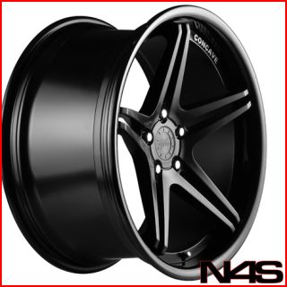 20 Audi B8 S5 Vertini Monaco Concave Black Wheels Rims