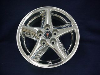 PONTIAC GRAND AM 99 05 16 5 SPOKE CHROME CLAD ALLOY WHEELS   SET 4