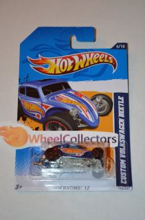 Custom Volkswagen Beetle Blue 2012 Hot Wheels H Case HW Racing