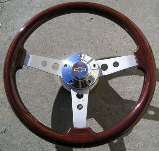 714 Mahogany wood 14 steering wheel for 69 94 Chevy Truck Camaro Jeep