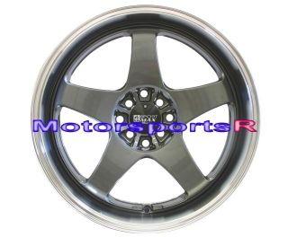Gun Metal Rims Staggered wheels Deep Dish Lip 89 94 Nissan 240sx S13