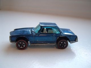 Vintage Redline Hotwheel Hot Wheels Mercedes Benz Blue