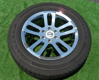 Nissan Titan Factory Chrome 20 inch Wheels Tires Armada QX56