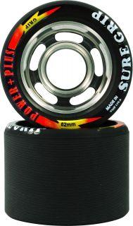 Power Plus Sure Grip Quad Skate Wheels Black 93A