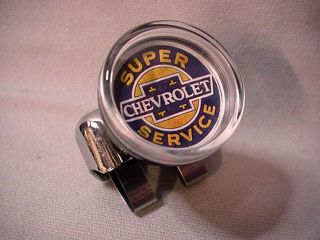 Chevy Super Service Suicide Steering Wheel Knob