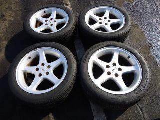 94 04 Mustang Cobra Wheels SVT Factory 17 5 SPOKE OEM Tires Silver 98