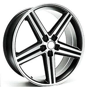 IROC Wheels Black Machined 22 5x120 Set of 4 22x9 5 New Chevy Camaro