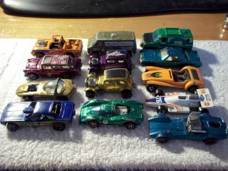 Red Line Hot Wheels lot 13 Cars 1 is a 1971 Matchbox by Lesney
