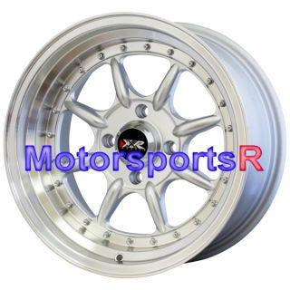 16 16x8 XXR 002 Hyper Silver Wheels Rims 4x114 3 Stance 93 94 97 Honda