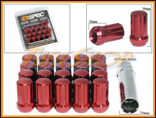 Lock Lug Nuts 12x1 5 1 5 Acorn Wheels Rims Close End Red U