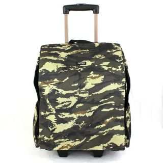 Camouflage Green Backpack Roller Wheels Pet Carrier Bag