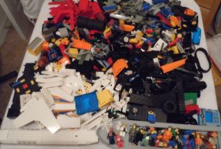 Huge Mix Lot 15 lbs of Lego Building Bricks Wheels Figures More